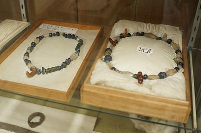 まが玉首飾り(三之宮郷土博物館)