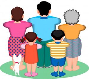 ご先祖さま、おじいちゃん・おばあちゃん、お父さん・お母さん、自分たち、子どもたち、孫たち・・・背中は大事です。