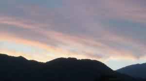 神社裏・里山の夕焼け