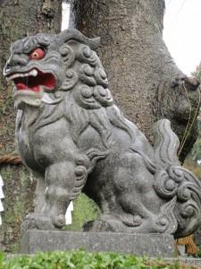 比々多神社の狛犬