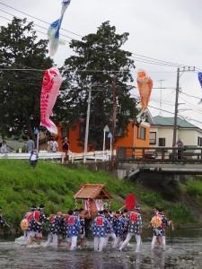 金目川で禊(みそぎ)