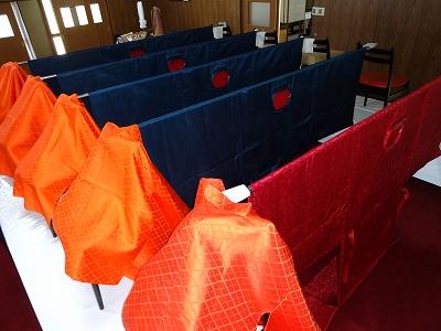 大祭装束の準備