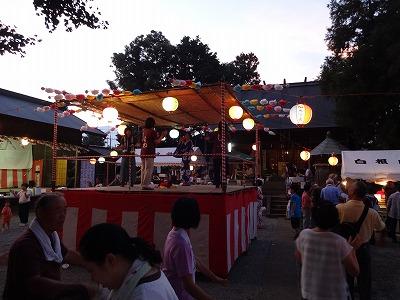 白根納涼大会(神明社)
