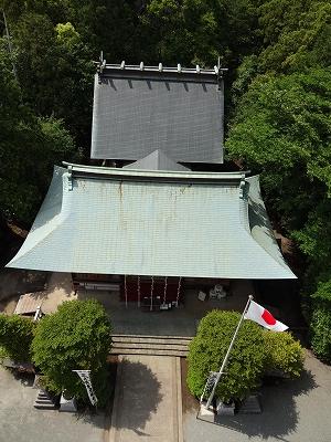高所から社殿を拝む 28日撮影