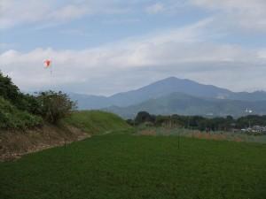 八剱さんより大山を望む