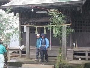 田中・十二柱神社にて