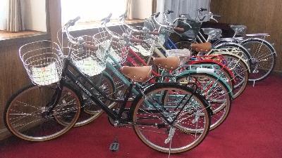 景品の自転車