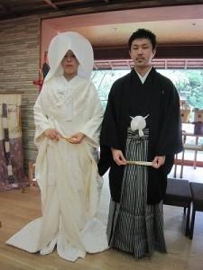 本日結婚式を挙げられたお二人(於:陣屋)