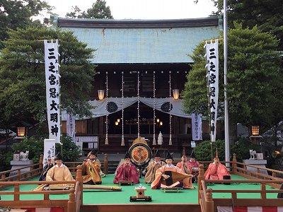 「管絃と舞楽の夕べ」(比々多神社雅楽会)