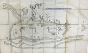 相模國府祭の古地図「神揃山祭場」