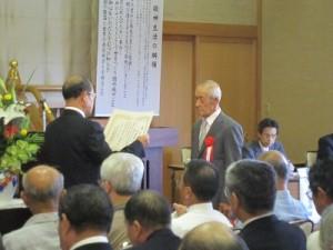 兼務社では、石座神社総代・伊藤様が代表で表彰状を受けられました。