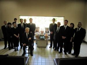 霊園施設での祖霊祭