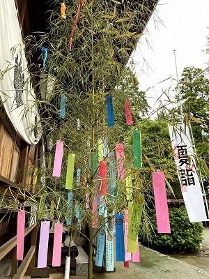 夏詣 七夕の短冊