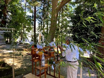 伐木安全祈願祭 北金目神社