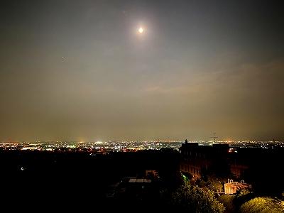 元宮からの観月 昨晩