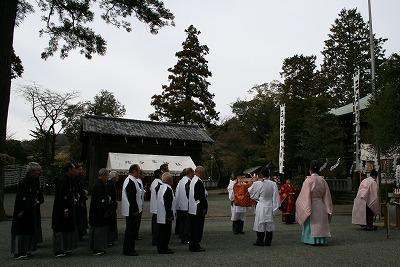 祭典に先立つ修祓(おはらい)の儀