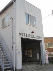 神社裏にある消防小屋