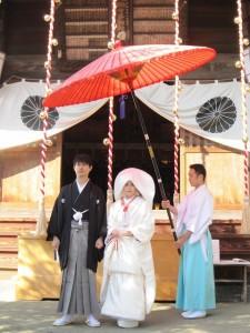 結婚式後のお二人