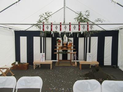 倉庫新築工事地鎮祭