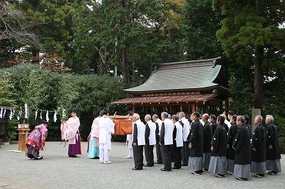 祭儀に先立つお祓い(修祓)