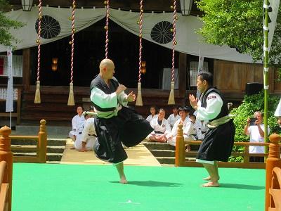 少林寺拳法の演武