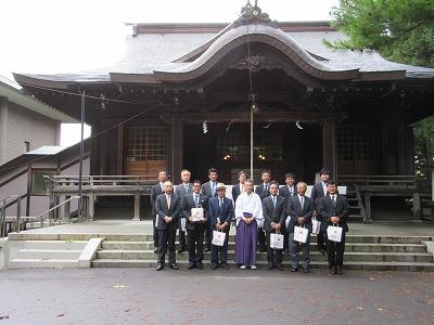 亀田八幡宮にて