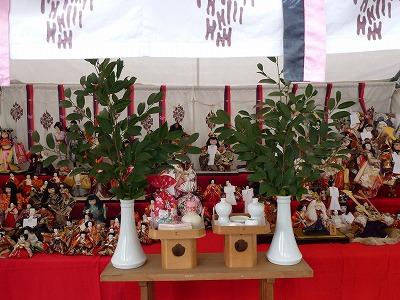 人形感謝祭の展示(昨年)