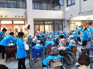 三ノ宮の社会福祉施設での納涼祭