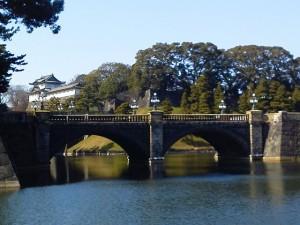今日の皇居・二重橋