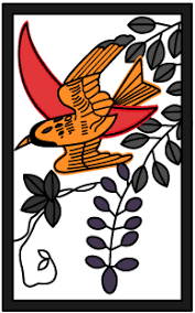 花札「藤に杜鵑」