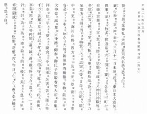 東日本大震災復興祈願祭祝詞(例文)