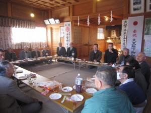 笠窪・神明神社 各団体の長人が参列