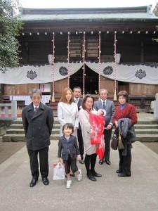 神戸の青年会長さんは第2子のお宮参りでした